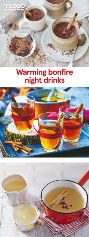 Get Bonfire Night inspiration with these deliciously warming drinks recipes. Whether you fancy a rich, homemade hot chocolate or fiery ginger ale, these Bonfire drinks will be sure to keep you warm. | Tesco