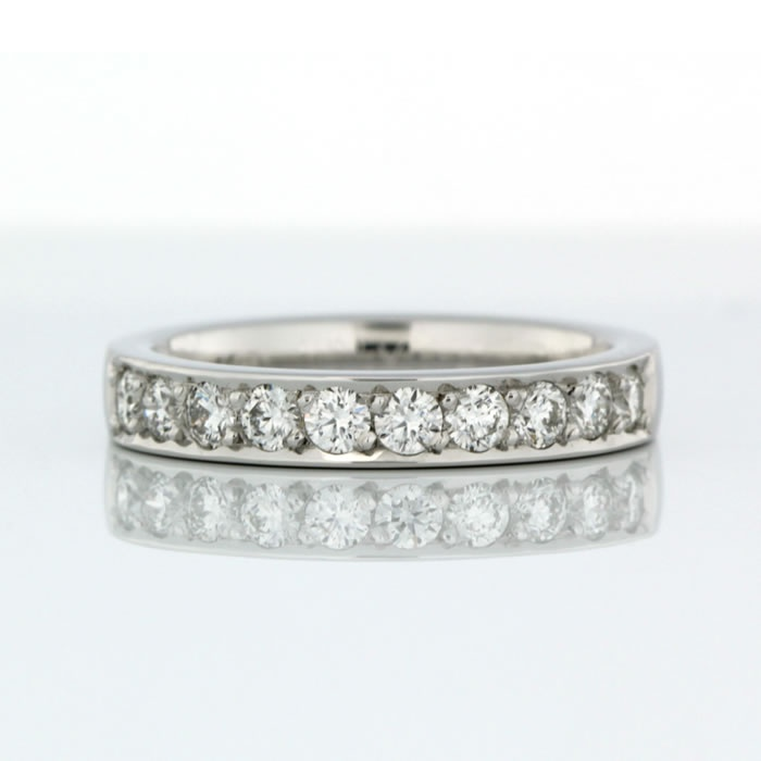 Bead Set Wedding Ring 18ct White Gold Product Reference 0411713