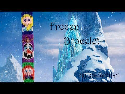 New Disney Frozen Bracelet Pattern - Alpha Loom / Rainbow Loom - Elsa Anna Olaf - YouTube