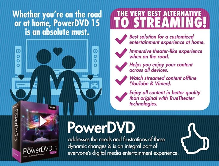 Thanks for virtually attending ‪#‎NABShow‬ with ‪#‎CyberLink‬ this week! In addition to launching PowerDVD 15, we also just released some exciting research on changing media consumption habits during the conference. Explore our infographic on our blog http://bit.ly/1Hd9DRS, or read our press release to get all the details: http://bit.ly/1Db2Ylt