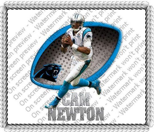 1/4 Sheet ~ NFL Cam Newton Birthday ~ Edible Image Cake/Cupcake Topper!!! Quantumchaos $8.45 + $4.75 shipping