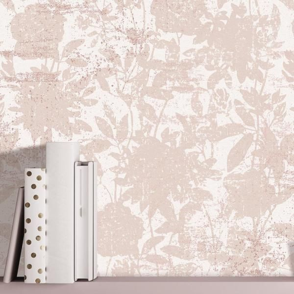 Tempaper Garden Floral Vinyl Peelable Wallpaper Covers 28 Sq Ft Cl4002 The Home Depot Peel And Stick Wallpaper Removable Wallpaper Wallpaper Roll