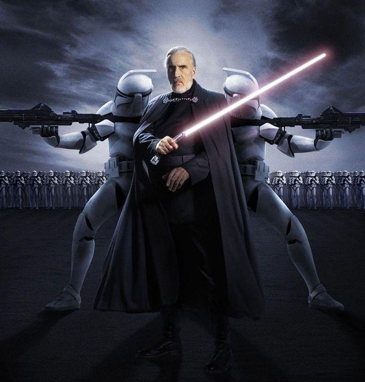Sir Christopher Lee makes his Star Wars debut