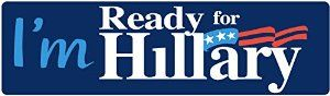 Have you got your #Hillary2016 bumper sticker yet? Get yours today! http://amzn.to/1NxNSlZ