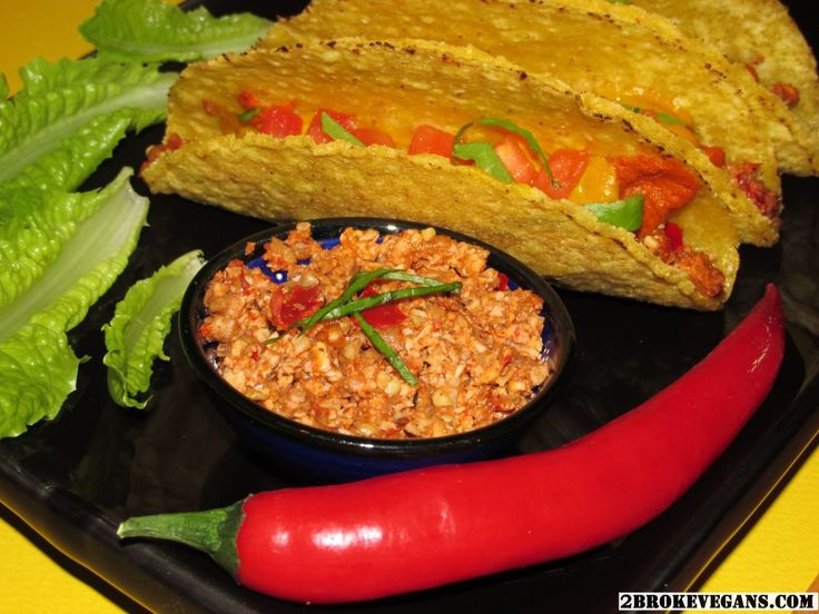 Raw Vegan Taco Meat - Spicy - 2 Βroke Vegans: http://2brokevegans.com/raw-vegan-taco-meat-spicy/