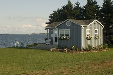 """Frances and Bruce Purdy's """"Purdy Cottage"""" in Amherst Shore, Nova Scotia featured in the summer 2008 issue of East Coast Living"""