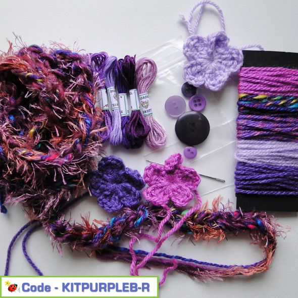 Fancy Embellishment Textile Kit Purples Pack B, Paradis Terrestre - Luxury British Made Accessories & Homeware