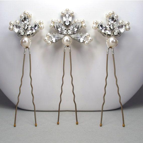Set of Three Art Deco Vintage Style Wedding Hair by BeautifulBeau