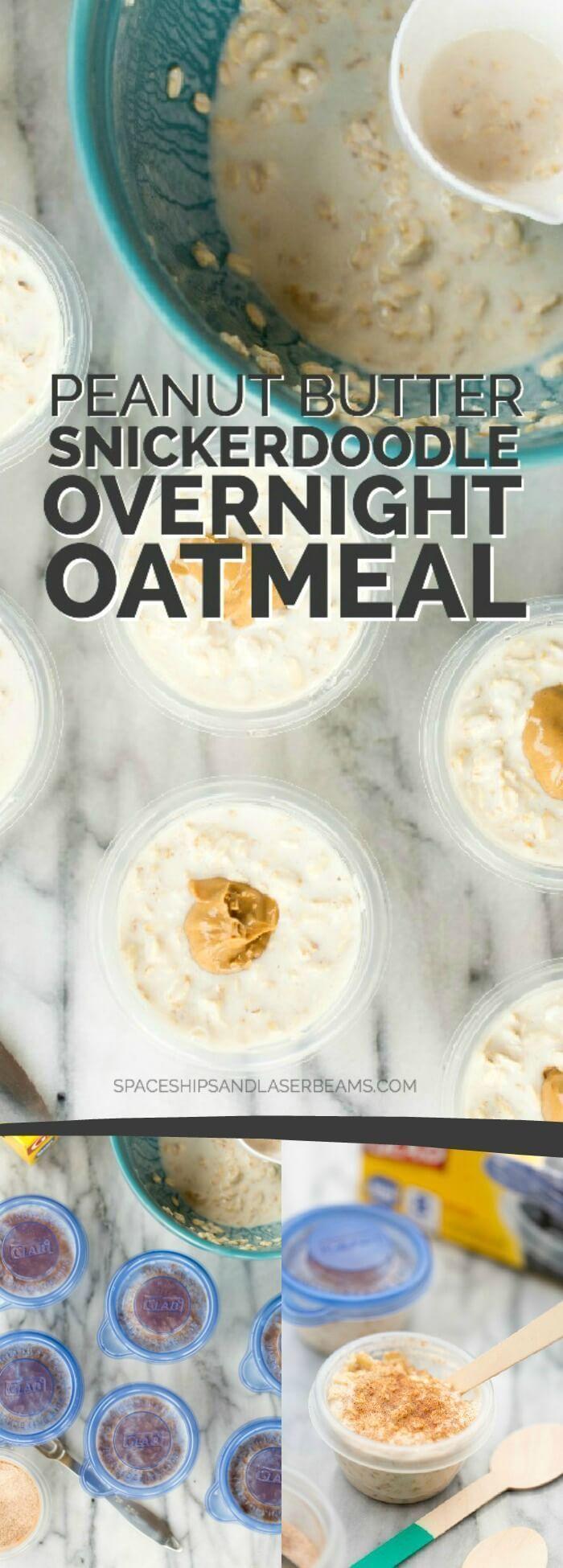 Peanut Butter Snickerdoodle Overnight Oatmeal | Breakfast Recipe
