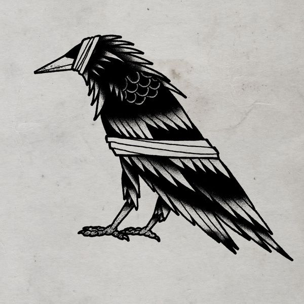 Bandaged Crow © 2012 Tom Gilmourhttp://www.tomgilmour.comhttps://www.facebook.com/tomgilmourillustration in Properly Deceased