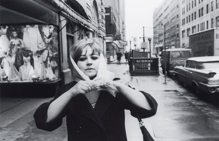 Wieland continued to paint, at least in the early sixties, while opening up her art practice to encompass a range of new materials and media. Wieland in New York in 1964, photographed by John Reeves. #ArtCanInstitute