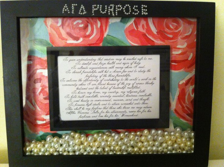 Craft idea for new initiates or seniors. Live with purpose! AGD submitted by:1904