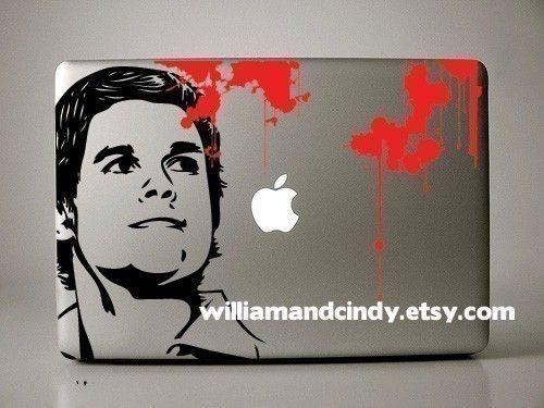 Dexter - Macbook Decal mac decal macbook sticker macbook pro decal. $12.00, via Etsy.