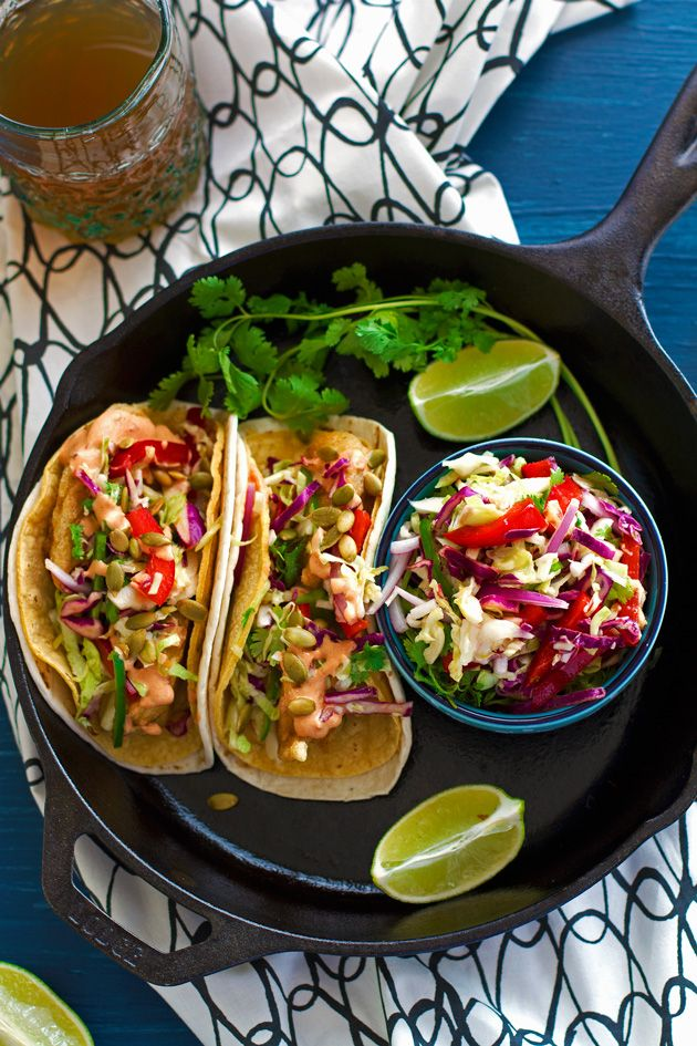 Crispy fish tacos with margarita slaw recipe fish for Greek yogurt fish taco sauce