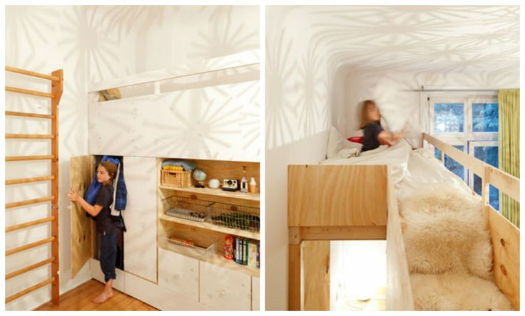 Living in a shoebox | Great space-saving solutions for bedroom and kids room from Studio Oink
