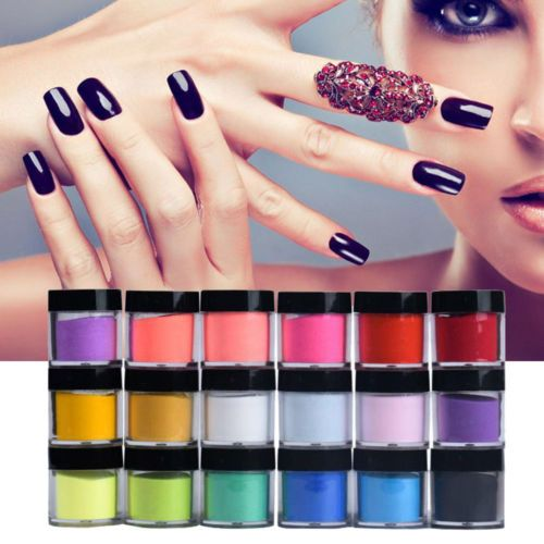 18-Colors-Acrylic-Nail-Art-Tips-UV-Gel-Powder-Dust-Design-Decoration-3D-Manicure