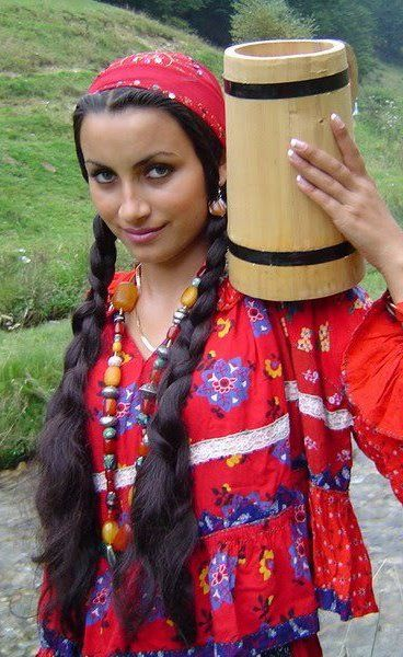 A real gypsy woman.  Isn't she beautiful?