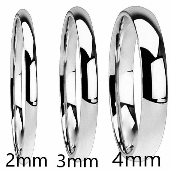 Stainless Steel 3mm U0026 4mm Classic Dome Style Comfort Fit Mens / Womans  Personalized Wedding Ring Promise Ring AZ139