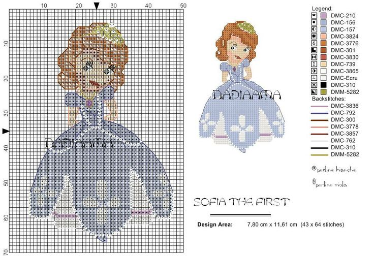 sofia the first cross stitch pattern