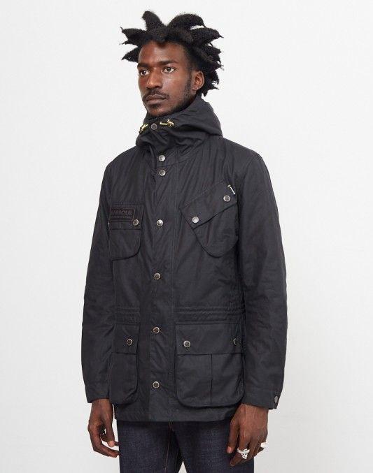 Barbour International Fog Parka Black #StyleMadeEasy