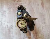 "Bracelet montre cuir ""Love eternity""Port offert : Montre par alittlesecret"