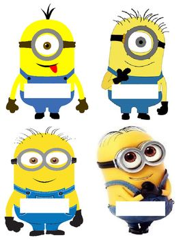 Last year I put together these Minion decorations for my classroom theme.  They came out really cute and the classroom door looked great! You can make duplicate copies of the girl and boy Minions to write the children's names, use the bulletin board labels to identify each subject and use the larger minion cut-outs to decorate the door or bulletin boards.