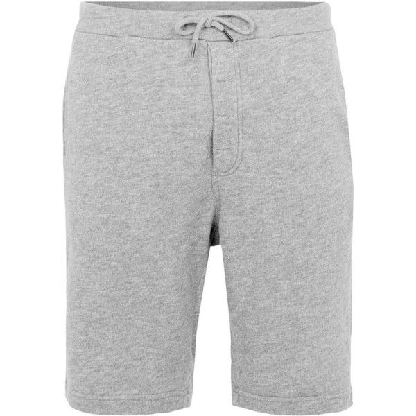 TOPMAN Selected Homme Grey Cotton Shorts (51 BRL) ❤ liked on Polyvore featuring men's fashion, men's clothing, men's shorts, grey, mens cotton shorts, mens grey shorts, mens long shorts and mens longer length shorts