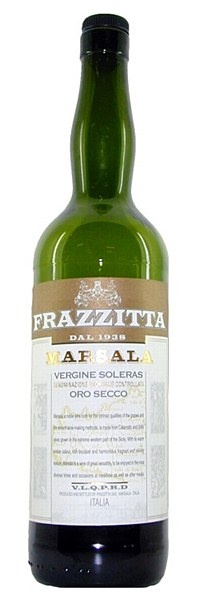 Frazzitta Marsala Soleras Oro Secco -    Frazzitas Vergine Soleras Oro Secco (see below for an explanation of these labelling terms) displays a dazzling golden colour, and emanates refined, rich notes of bitter almonds, nougat and honey, beautifully balanced by a dry finish of liquorice and vanilla spice.  Just beautiful at either the start or end of a meal, or savoured on its own at any time.  19% ABV