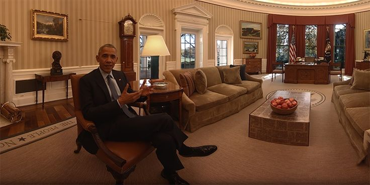 Barack Obama in Oculus film tour of the White House