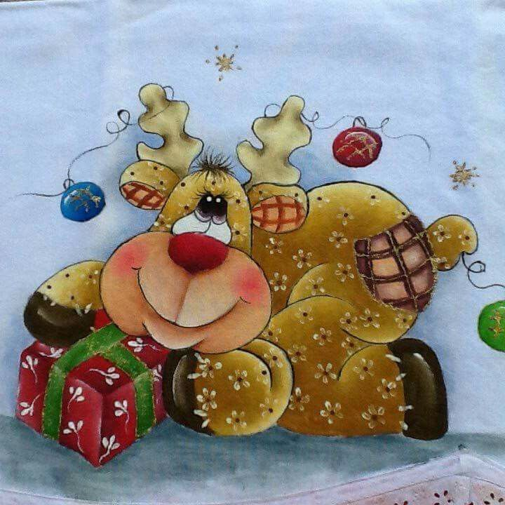 M s de 25 ideas incre bles sobre pintura en tela navidad - Pintura en tela motivos navidenos ...