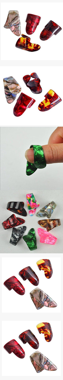 Guitar Pick Finger picks 3 Finger Picks 1 Thumb Pick Plectrums Guitar Plastic