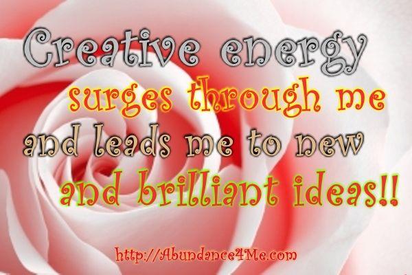Creative Energy... Brilliant Ideas :)