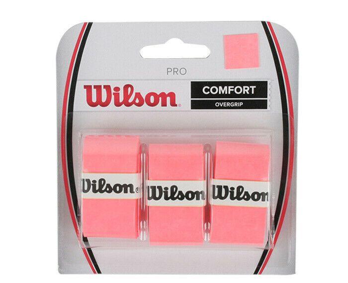 Wilson Tennis Pro Overgrip 3 Pack Orange Comfort Badminton Tape Racket Wrz4014or Wilson Badminton Badminton Racket Grip Racquet Bag