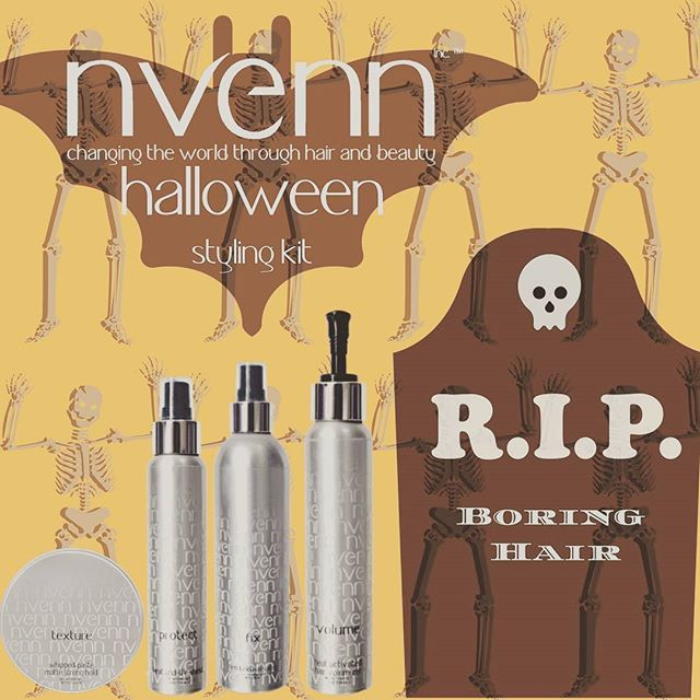 "Go 🦇""batty"" this october and craft the perfect style for the hottest halloween look with our👻 HALLOWEEN STYLE KIT sink your fangs into %25 savings! https://goo.gl/2UDFYJ #nvenn #halloween #style #kit #halloweenhair #retro #kitsch #halloweenstylekit #yeghair #yychair #bbloggers #salonpro #fallhair"