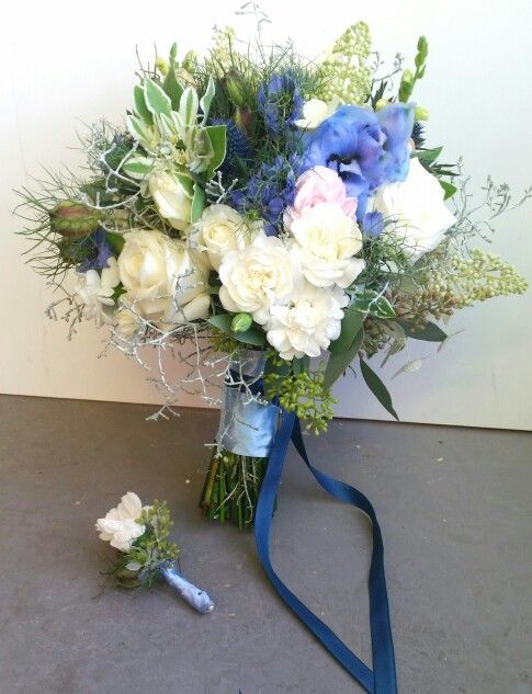 Navy blue bouquet #blue