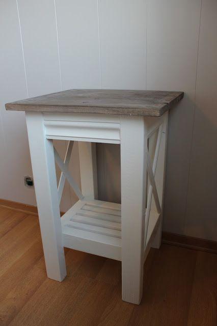 Lindevegen: DIY nattbord endelig ferdig:)
