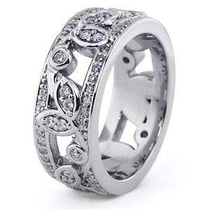 Custom Ring, Diamond Vine Band