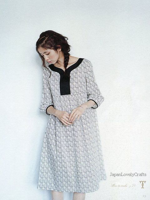 ADULT COUTURE - ONE PIECE DRESS AND TUNIC BLOUSE BY YOSHIKO TSUKIORI, JAPANESE SEWING PATTERN BOOK FOR ADULT WOMEN, NATURAL ONEPIECE 5 | Flickr - Photo Sharing!
