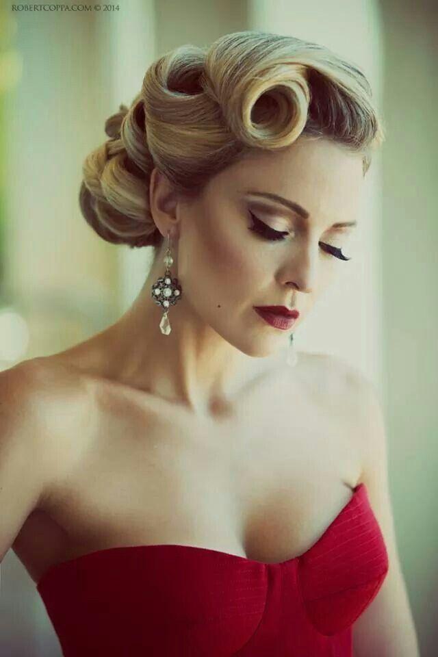 Recogido y maquillaje vintage perfecto para marcar tendencia en las bodas