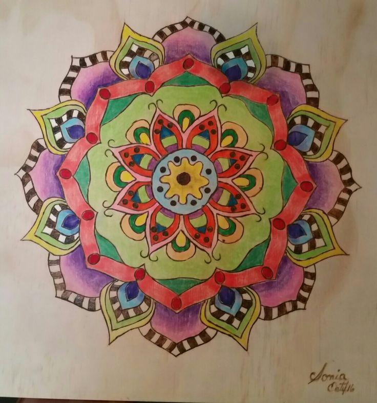 Mandala pirograbada