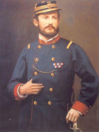 CAPITÁN RICARDO SERRANO MONTANER,  Óleo sobre tela  Pinacoteca Museo Escuela Militar, Santiago de Chile