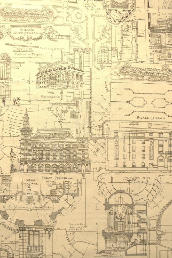 108 best blueprints sketches images on pinterest architecture moda fabric passport paris architecture blueprints yards malvernweather Image collections