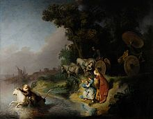 """Rembrandt - The Abduction of Europa, 1632. Oil on panel. The work has been described as """"...a shining example of the 'golden age' of Baroque painting."""