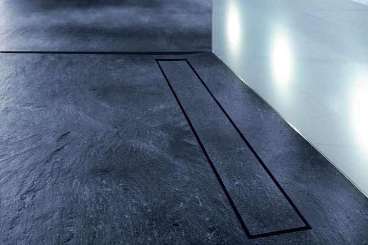 TECE douchegoot drainline stone - onzichtbare douchegoot voor natuurstenen douchevloer