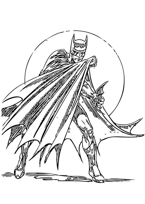 Batman In Action Coloring Page If You Are Crazy About Sheets Will Love This Get Them For Free BATMAN