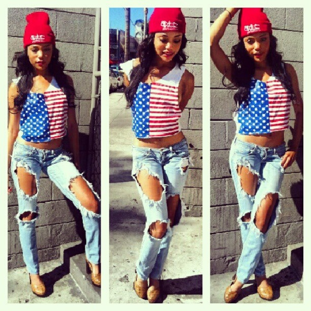 Red white & blue outfit ? #swag Girls with Swag Pinterest Red ...
