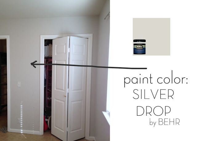 Silver drop behr favorite paint color planned for the for Neutral light grey paint