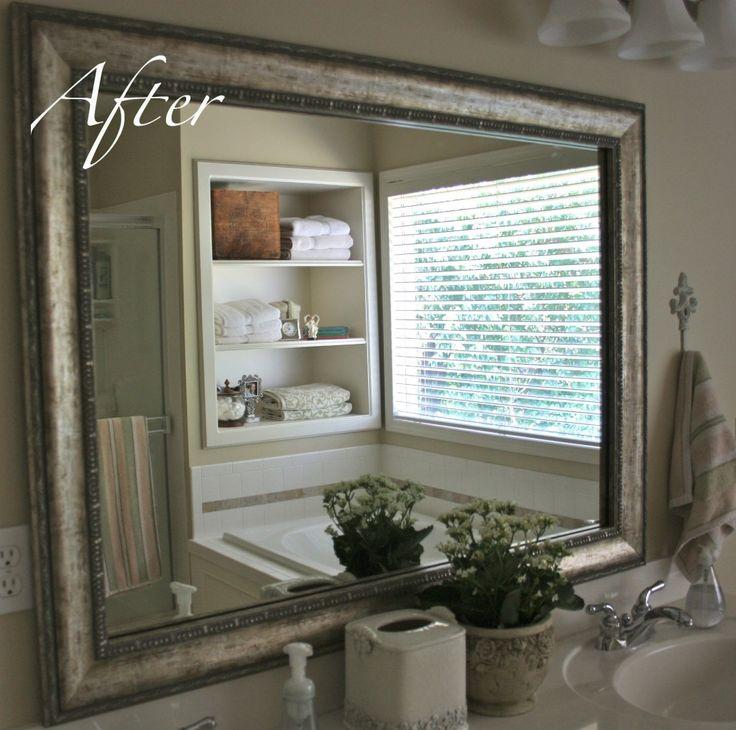 25+ Unique Mirror Makeover Ideas On Pinterest | Framed Mirror Design,  Pallet Mirror Frame And Cheap Mirrors