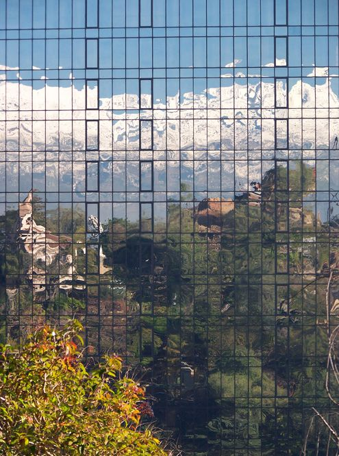 Reflection of Cerro Santa Lucia, Santiago, Chile