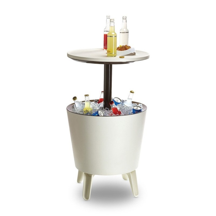 Outdoor Beverage Cooler and Table - There's a pole in my bucket dear Liza..: Beverage Cooler, Cooler Table, Outdoor Living, Garden Furniture, Backyard Oasis, Patio Table, Cool Bars, Outdoor Beverage